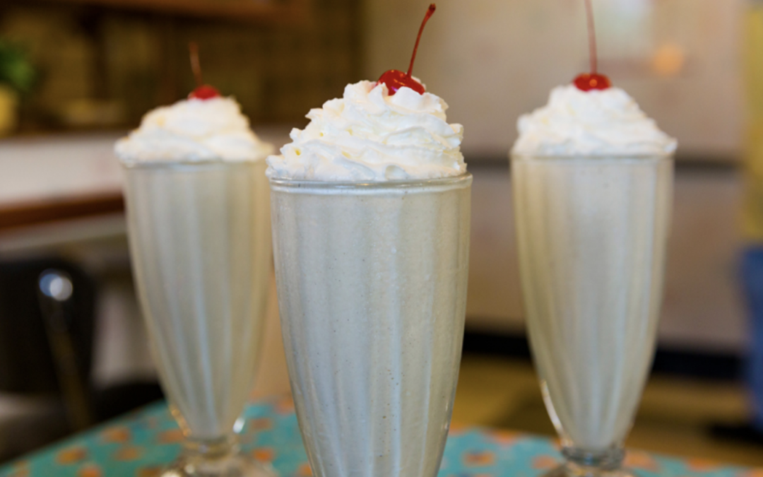 Peanut Butter & Jelly Milk Shake from 50's Prime Time Café at Disney's Hollywood Studios!
